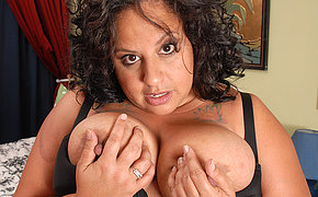 Naughty chubby nurturer carryingon with herself