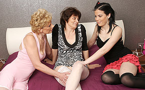 Three old and young lesbians make at large and then some