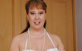 Horny British housewife pleasing herself