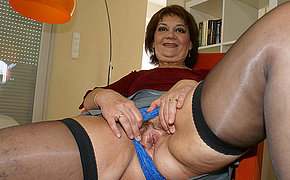 Mama enjoys her toys right away she is horny
