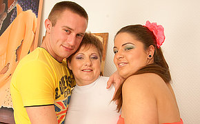 Blistering housewife in hot threesome
