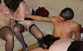 a hot mature sexparty getting wet and wild