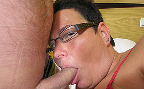 This stocky mama loves a hard cock