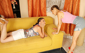 Hot old and young lesbians get wicked and wild
