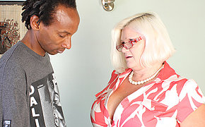 Big titted British BBW fucking a black dude hard and long