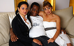 Sexy Mature interracial threesome goes wild
