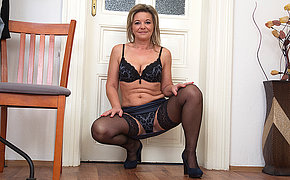 Naughty housewife getting very horny