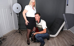 German housewife photoshoot gets out of hand