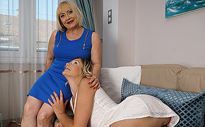 Horny grandma doing her young girlfriend