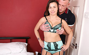 Horny British Mom fucking and sucking her ass off