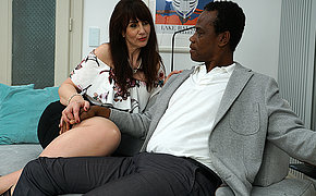 Kinky British lady doing her black lover