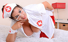Big breasted Lulu playing as nurse for you temperature