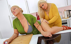 Two big titted mature ladies shopping for toys