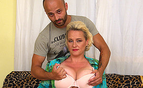 Big breasted missis getting her fill