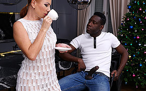 Naughty MILF getting an anal fuck from a strapping black guy