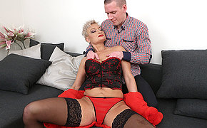 Naughty mature slut fucking and fisted