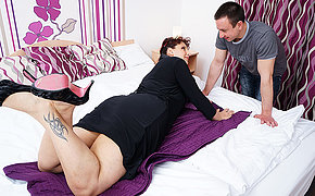 Horny missus sucks her toyboys cock and gets fucked hard