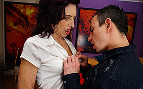 Sexy skinny mother is fucked hard by her boyfriend
